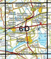 06D  Bergum 1:25.000 9789035000636  Topografische Dienst / Kadaster Topografische Kaart  Wandelkaarten Friesland