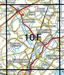 10F  Mantgum 1:25.000 9789035001053  Topografische Dienst / Kadaster Topografische Kaart  Wandelkaarten Friesland