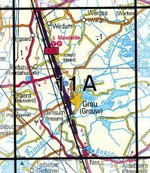 11A  Grouw 1:25.000 9789035001107  Topografische Dienst / Kadaster Topografische Kaart  Wandelkaarten Friesland
