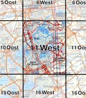 11  West 9789035001183  Topografische Dienst / Kadaster Ned. 1:50.000  Wandelkaarten Friesland