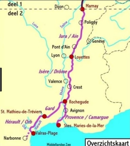 De Groene Weg naar de Middellandse Zee, deel 2   fietsgids 9789064558535 Europafietsers Pirola Pirola fietsgidsen  Fietsgidsen, Meerdaagse fietsvakanties Frankrijk