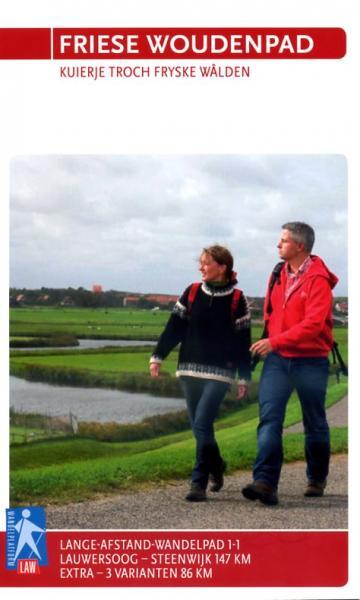 LAW 1-1  Het Friese Woudenpad 9789071068812  Wandelnet LAW-Gidsen  Meerdaagse wandelroutes, Wandelgidsen Friesland