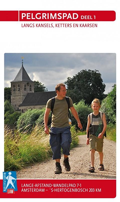 LAW 7-1  Pelgrimspad I 9789071068942  Wandelnet LAW-Gidsen  Meerdaagse wandelroutes, Wandelgidsen Nederland