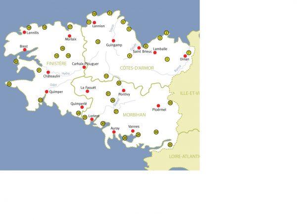 Wandelen in Bretagne 9789078194248 Paul van Bodengraven en Marco Barten Smaakmakers / One Day Walks   Wandelgidsen Bretagne