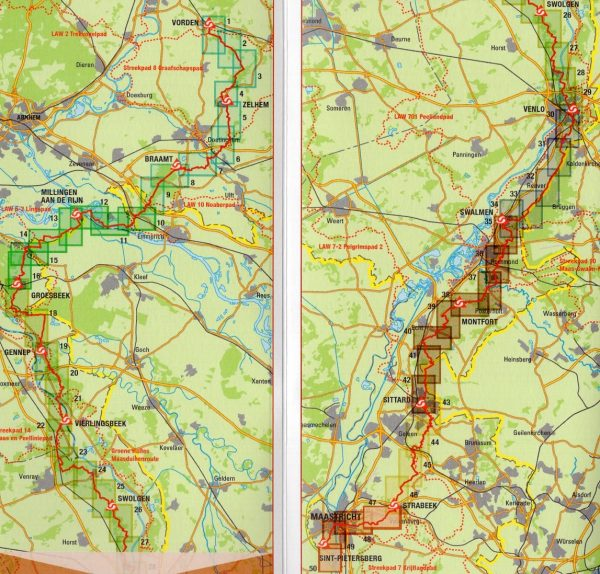 LAW 9-2 Pieterpad II 9789491142086  Nivon LAW-Gidsen  Lopen naar Rome, Santiago de Compostela, Wandelgidsen Oost Nederland, Zuid Nederland