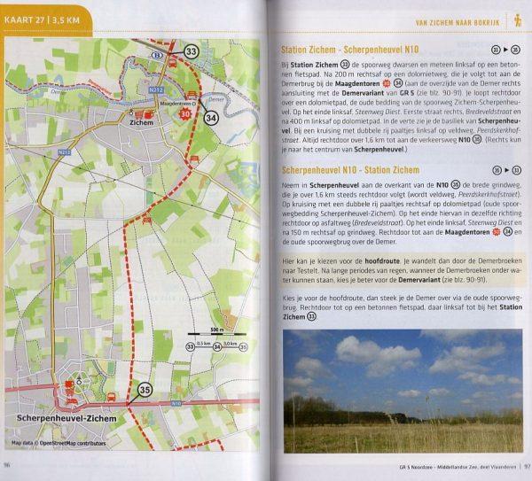 GR-5 | Noordzee – Middellandse Zee, deel Vlaanderen 9789492608017  Grote Routepaden Topogidsen  Meerdaagse wandelroutes, Wandelgidsen Vlaanderen & Brussel