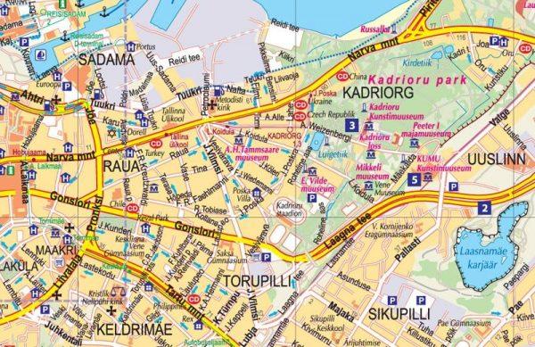 Tallinn 1:10.000 / 25.000 9789984075969  Jana Seta   Stadsplattegronden Estland