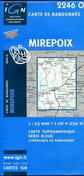 2446O  Capendu 1:25.000 3282112446144  IGN Serie Bleue 1:25.000  Wandelkaarten Cevennen, Languedoc