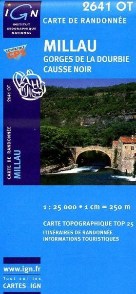 2641OT   Millau, Gorges de la Dourbie | wandelkaart 1:25.000 3282112641037  IGN TOP 25  Geen categorie Lot, Tarn, Toulouse