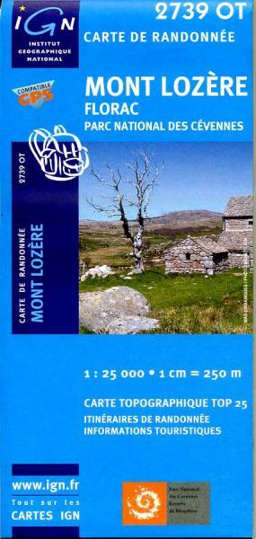 2739OT  Mont-Lozère, Florac | wandelkaart 1:25.000 * 3282112739031  IGN IGN 25 Cevennen & Languedoc  Wandelkaarten Cevennen, Languedoc