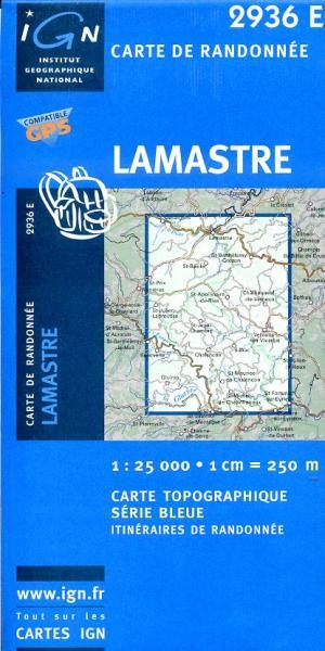 2936 Est  Lamastre 3282112936249  IGN Serie Bleue 1:25.000  Wandelkaarten Ardèche, Drôme