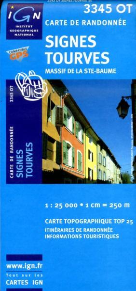 3345OT   Signes, Nans-les-Pins | wandelkaart 1:25.000 3282113345026  IGN TOP 25  Wandelkaarten Côte d'Azur