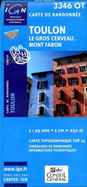 3346OT  Toulon, Six-Fours-les-Plages | wandelkaart 1:25.000 3282113346023  IGN IGN 25 Côte-d'Azur, Var  Wandelkaarten Côte d'Azur