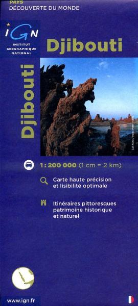 Djibouti 1:200.000 3282118500413  IGN   Landkaarten en wegenkaarten Ethiopië, Somalië, Eritrea