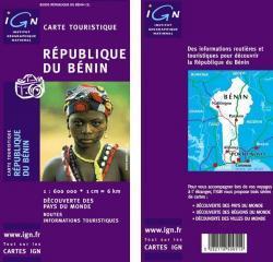 Bénin 1:600.000 3282118500512  IGN   Landkaarten en wegenkaarten West-Afrikaanse kustlanden (van Senegal tot en met Nigeria)