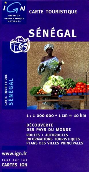 Sénégal 1:1.000.000 3282118501830  IGN   Landkaarten en wegenkaarten West-Afrikaanse kustlanden (van Senegal tot en met Nigeria)