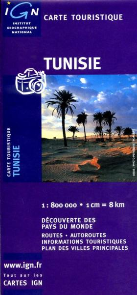 Tunisie 1:750.000 3282118510917  IGN   Landkaarten en wegenkaarten Algerije, Tunesië, Libië