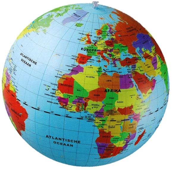 Opblaasbare wereldbol | ø 50 cm 3760039940544  Caly Globes / Wereldbollen  Globes, Kinderboeken Wereld als geheel