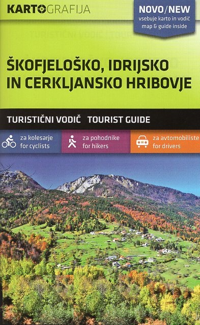 Skofjelosko / Idrijsko / Cerkljansko hribovje | wandelkaart 1:40.000 3830048522557  Kartografija   Wandelkaarten Slovenië