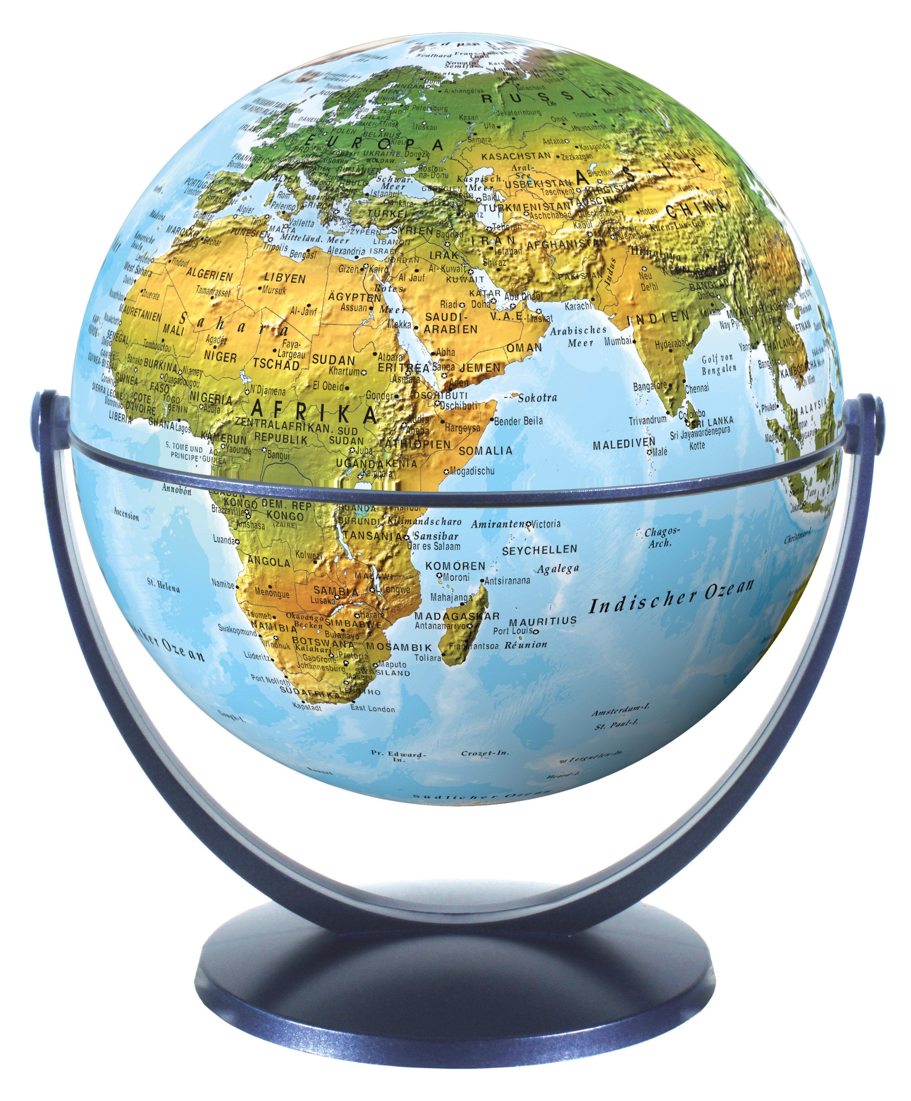 Draai & Kantelglobe 15 cm natuurkundig 4028465940125  Stellanova Globes / Wereldbollen  Globes Wereld als geheel