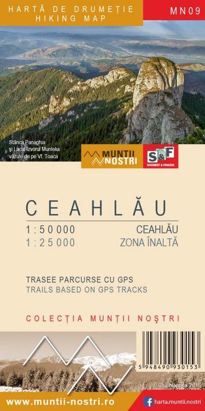 MN-09 Ceahlau Massif Map | wandelkaart 1:50.000 / 25.000 5948490930153  Muntii Nostri Wandelkaarten Roemenië  Wandelkaarten Roemenië, Moldavië