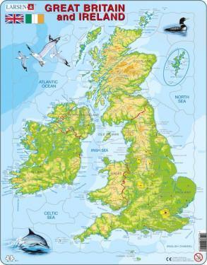 Great Britain and Ireland 7023850221053  Larsen Educatieve puzzels  Overige artikelen Britse Eilanden