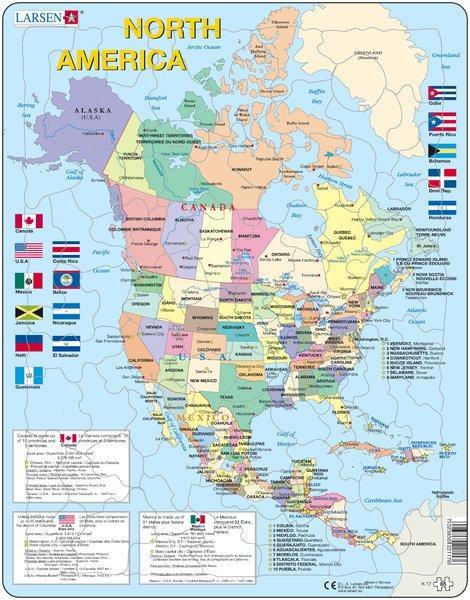 North America 7023850221176  Larsen Educatieve puzzels  Overige artikelen Verenigde Staten