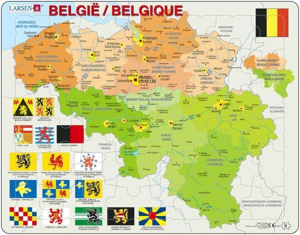 Belgie 7023850221596  Larsen Educatieve puzzels  Overige artikelen België & Luxemburg