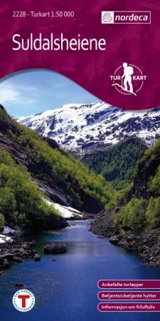 UG-2228  Suldalsheiene kaart | topografische wandelkaart 1:50.000 7046660022283  Nordeca / Ugland Turkart Norge 1:50.000  Wandelkaarten Zuid-Noorwegen