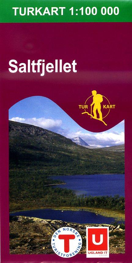 UG-2335  Saltfjellkartet 1:100.000 7046660023358  Nordeca / Ugland Turkart Norge 1:100.000  Wandelkaarten Noorwegen boven de Sognefjord