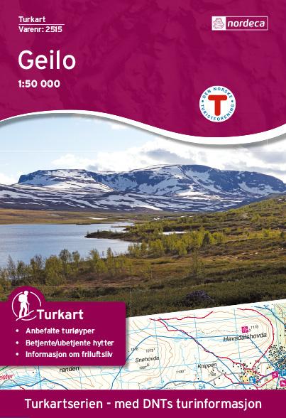 UG-2515  Geilo kaart | topografische wandelkaart 1:50.000 7046660025154  Nordeca / Ugland Turkart Norge 1:50.000  Wandelkaarten Zuid-Noorwegen