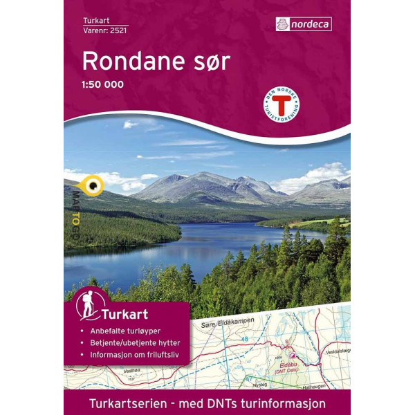 UG-2521  Rondane Sor | topografische wandelkaart 1:50.000 7046660025215  Nordeca / Ugland Turkart Norge 1:50.000  Wandelkaarten Zuid-Noorwegen