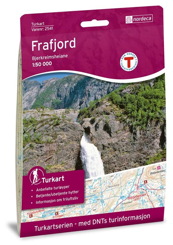 UG-2541 Frafjord - Bjerkreimsheiane kaart | topografische wandelkaart 1:50.000 7046660025413  Nordeca / Ugland Turkart Norge 1:50.000  Wandelkaarten Zuid-Noorwegen