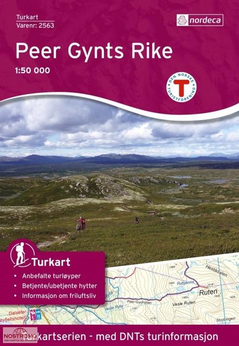 UG-2563 Peer Gynts Rike | topografische wandelkaart 1:50.000 7046660025635  Nordeca / Ugland Turkart Norge 1:50.000  Wandelkaarten Noorwegen boven de Sognefjord