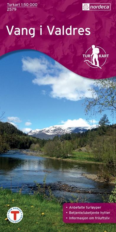 UG-2579  Vang i Valdres   topografische wandelkaart 1:50.000 7046660025796  Nordeca / Ugland Turkart Norge 1:50.000  Wandelkaarten Noorwegen boven de Sognefjord