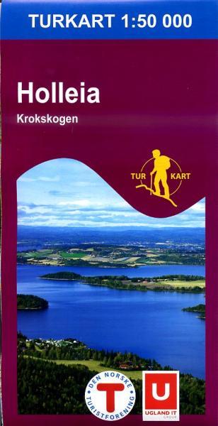 UG-2597  Holleia - Krokskogen | topografische wandelkaart 1:50.000 7046660025970  Nordeca / Ugland Turkart Norge 1:50.000  Wandelkaarten Zuid-Noorwegen