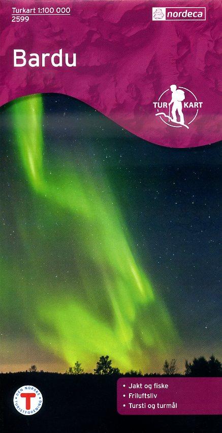 UG-2599  Bardu [Indre Troms] kaart 1:100.000 7046660025994  Nordeca / Ugland Turkart Norge 1:100.000  Wandelkaarten Noorwegen boven de Sognefjord