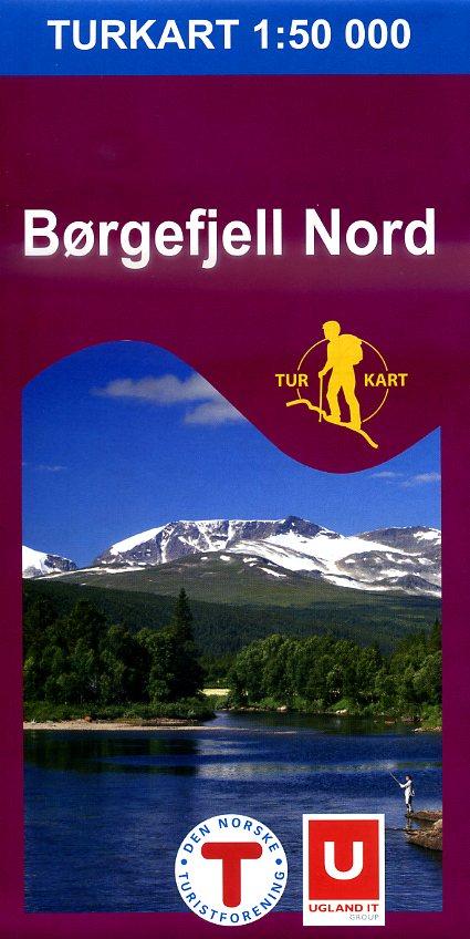 UG-2621 Børgefjell Nord 1:100.000 7046660026212  Nordeca / Ugland Turkart Norge 1:100.000  Wandelkaarten Noorwegen boven de Sognefjord