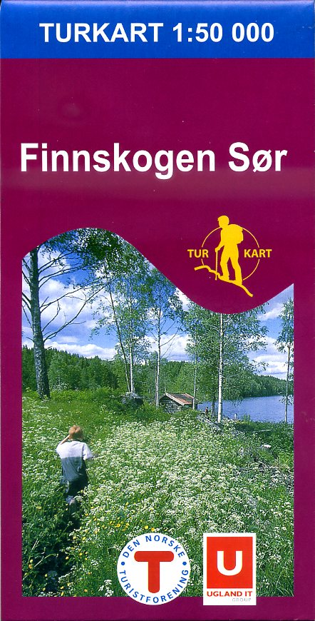 UG-2676  Finnskogen Sor | topografische wandelkaart 1:50.000 7046660026762  Nordeca / Ugland Turkart Norge 1:50.000  Wandelkaarten Zuid-Noorwegen