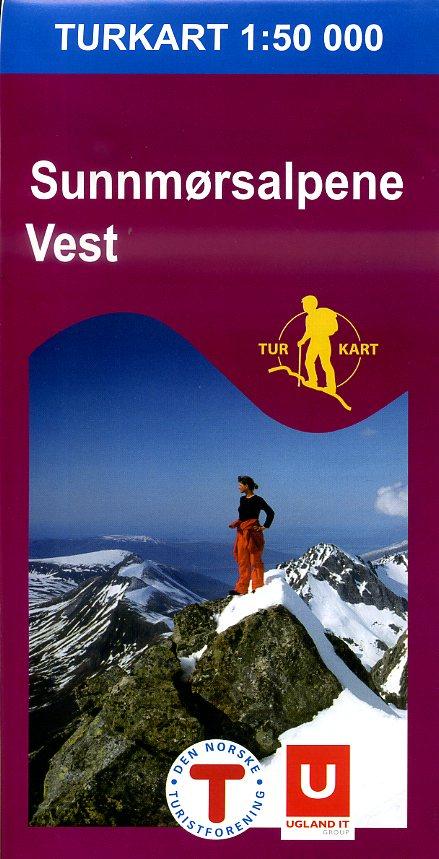 UG-2691  Sunnmorsalpane Vest   topografische wandelkaart 1:50.000 7046660026915  Nordeca / Ugland Turkart Norge 1:50.000  Wandelkaarten Midden-Noorwegen