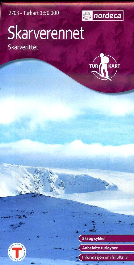 UG-2703 Skarverennet | topografische wandelkaart 1:50.000 7046660027035  Nordeca / Ugland Turkart Norge 1:50.000  Wandelkaarten Zuid-Noorwegen