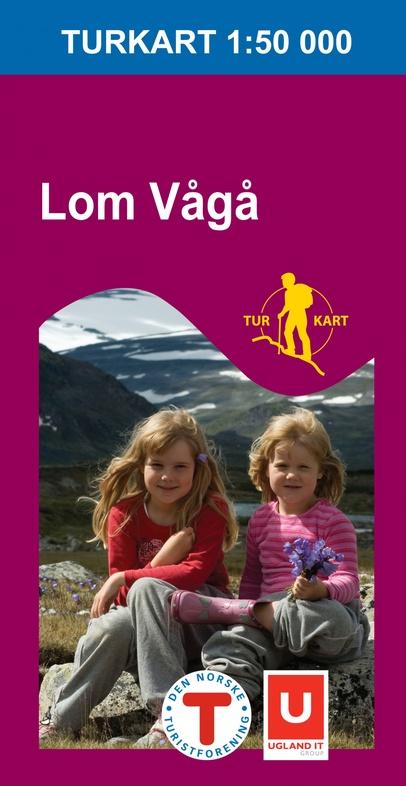 UG-2711  Lom Vaga | topografische wandelkaart 1:50.000 7046660027110  Nordeca / Ugland Turkart Norge 1:50.000  Wandelkaarten Noorwegen boven de Sognefjord