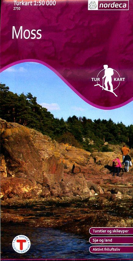 UG-2750  Turkart Moss 1:50 000 7046660027509  Nordeca / Ugland Turkart Norge  Wandelkaarten Zuid-Noorwegen