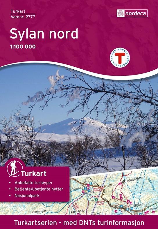 UG-2777 Sylan Nord 1:100.000 7046660027776  Nordeca / Ugland Turkart Norge 1:100.000  Wandelkaarten Noorwegen boven de Sognefjord