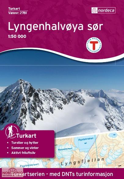 UG-2781 Lyngenhalvøya Sør | topografische wandelkaart 1:50.000 7046660027813  Nordeca / Ugland Turkart Norge 1:50.000  Wandelkaarten Noorwegen boven de Sognefjord