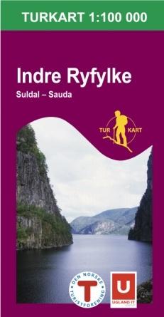UG-2790 Indre Ryfylke 1:100.000 7046660027905  Nordeca / Ugland Turkart Norge 1:100.000  Wandelkaarten Zuid-Noorwegen
