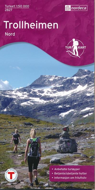 UG-2827 Trollheimen Nord | topografische wandelkaart 1:50.000 7046660028278  Nordeca / Ugland Turkart Norge 1:50.000  Wandelkaarten Noorwegen boven de Sognefjord