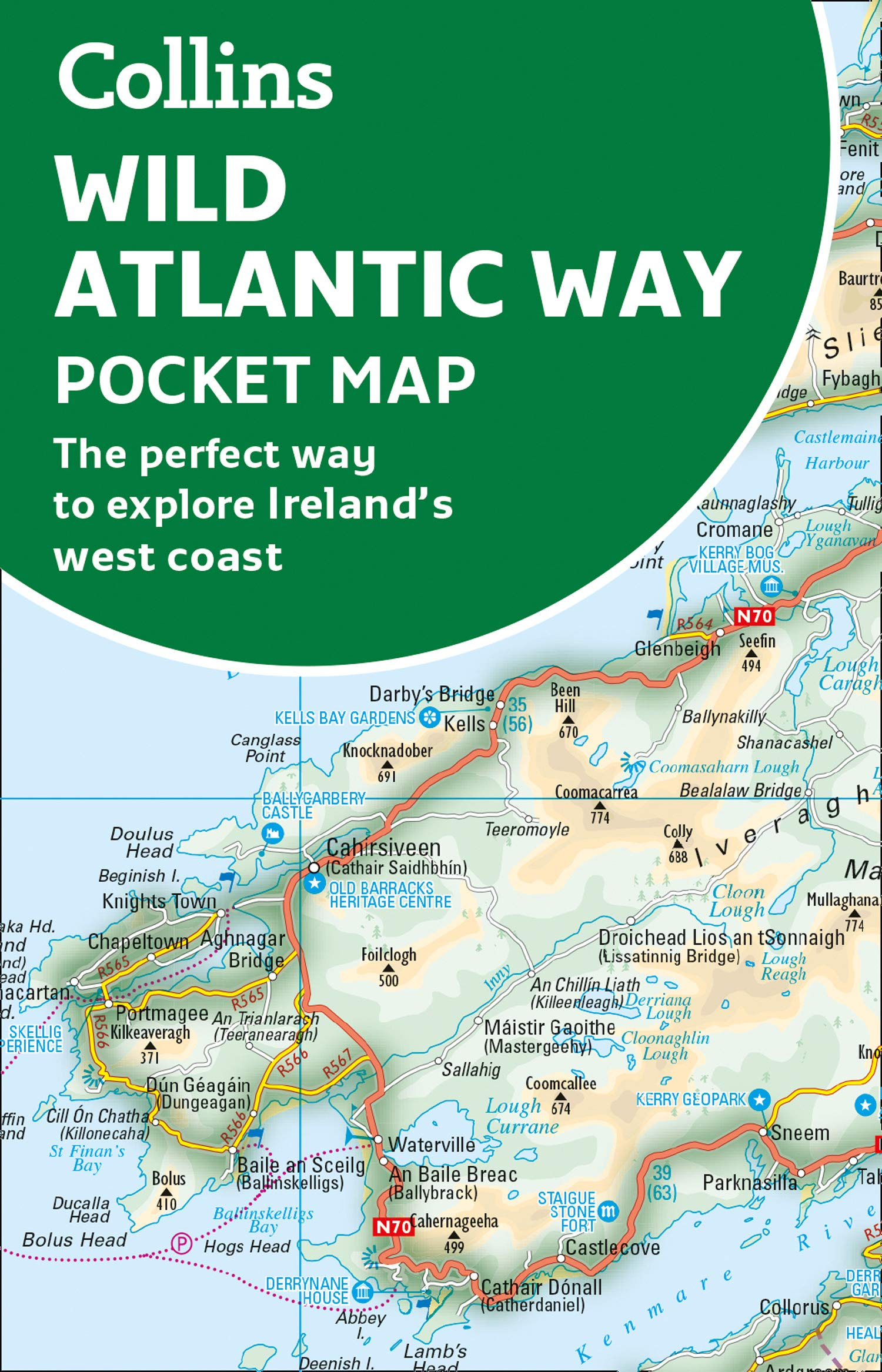 Wild Atlantic Way Pocket Map 9780008320409  Collins   Landkaarten en wegenkaarten Galway, Connemara, Donegal, Munster, Cork & Kerry