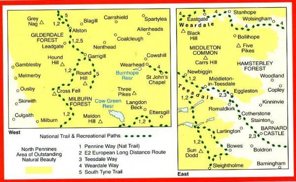 EXP-031  North Pennines (Teesdale + Weardale) | wandelkaart 1:25.000 9780319234662  Ordnance Survey Explorer Maps 1:25t.  Wandelkaarten Northumberland, Yorkshire Dales & Moors, Peak District, Isle of Man