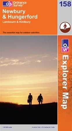 EXP-158 Newbury + Hungerford | wandelkaart 1:25.000 9780319236123  Ordnance Survey Explorer Maps 1:25t.  Wandelkaarten Midlands, Cotswolds, Oxford